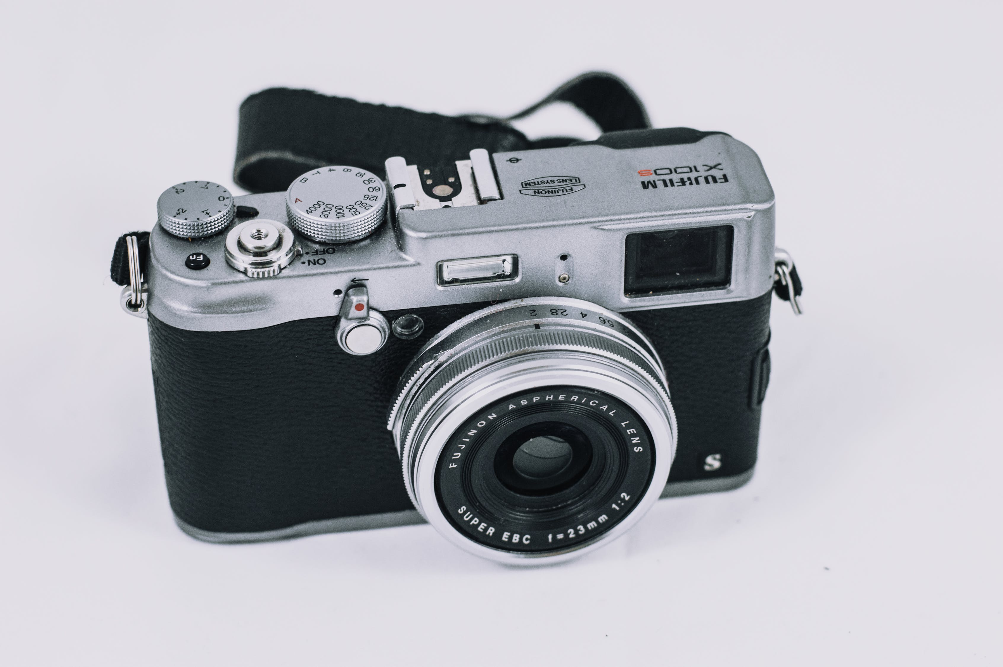 front look of a fujifilm camera
