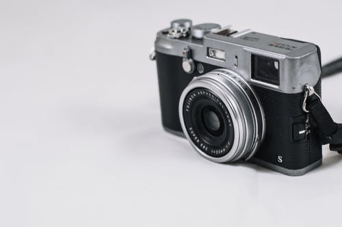 Black and Silver Film Camera
