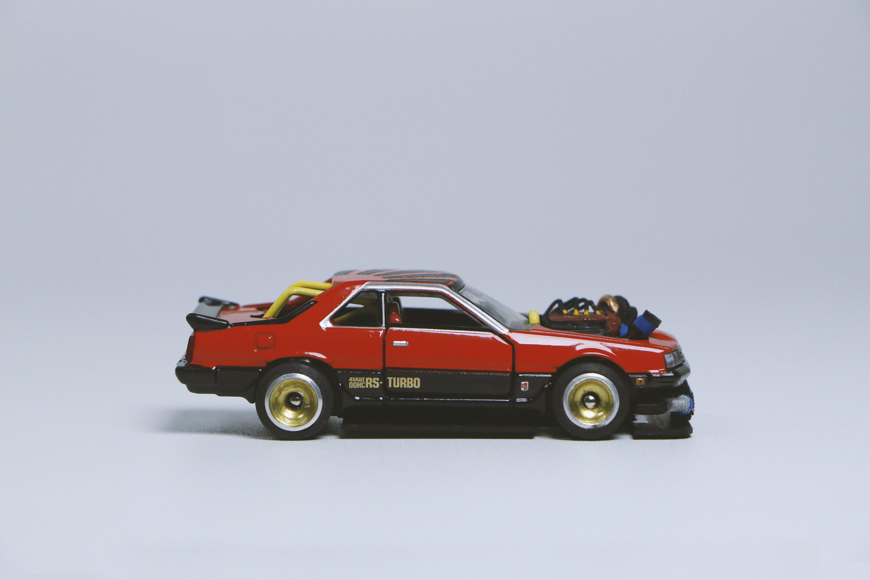 Red and Black Die-cast Car