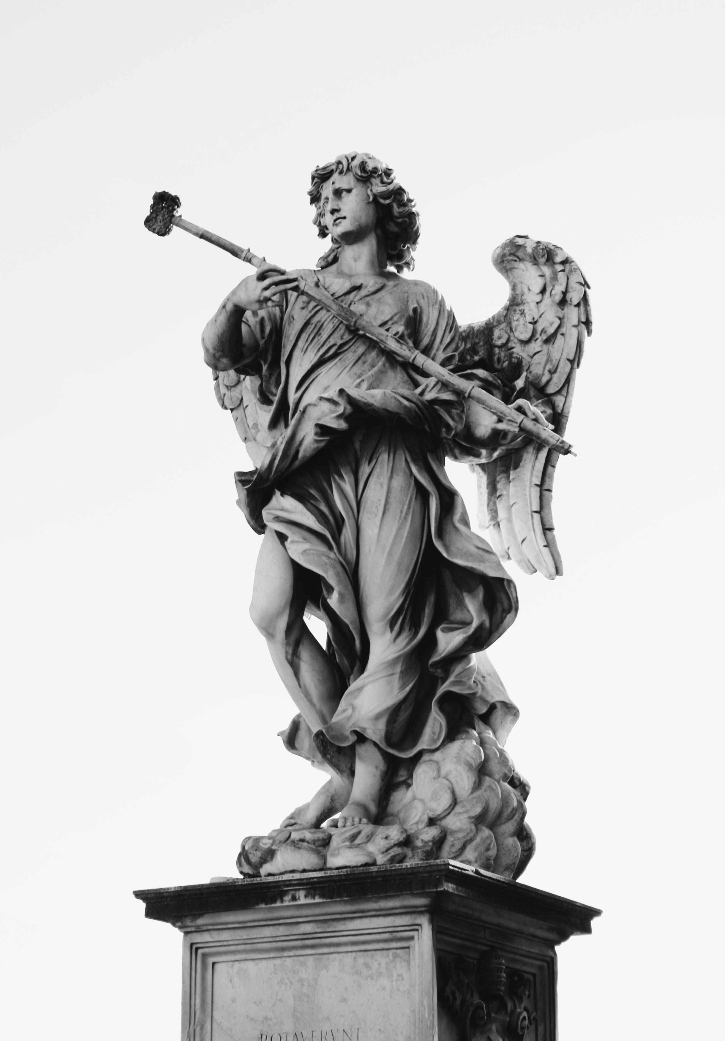 aufnahme von unten, engel, figur