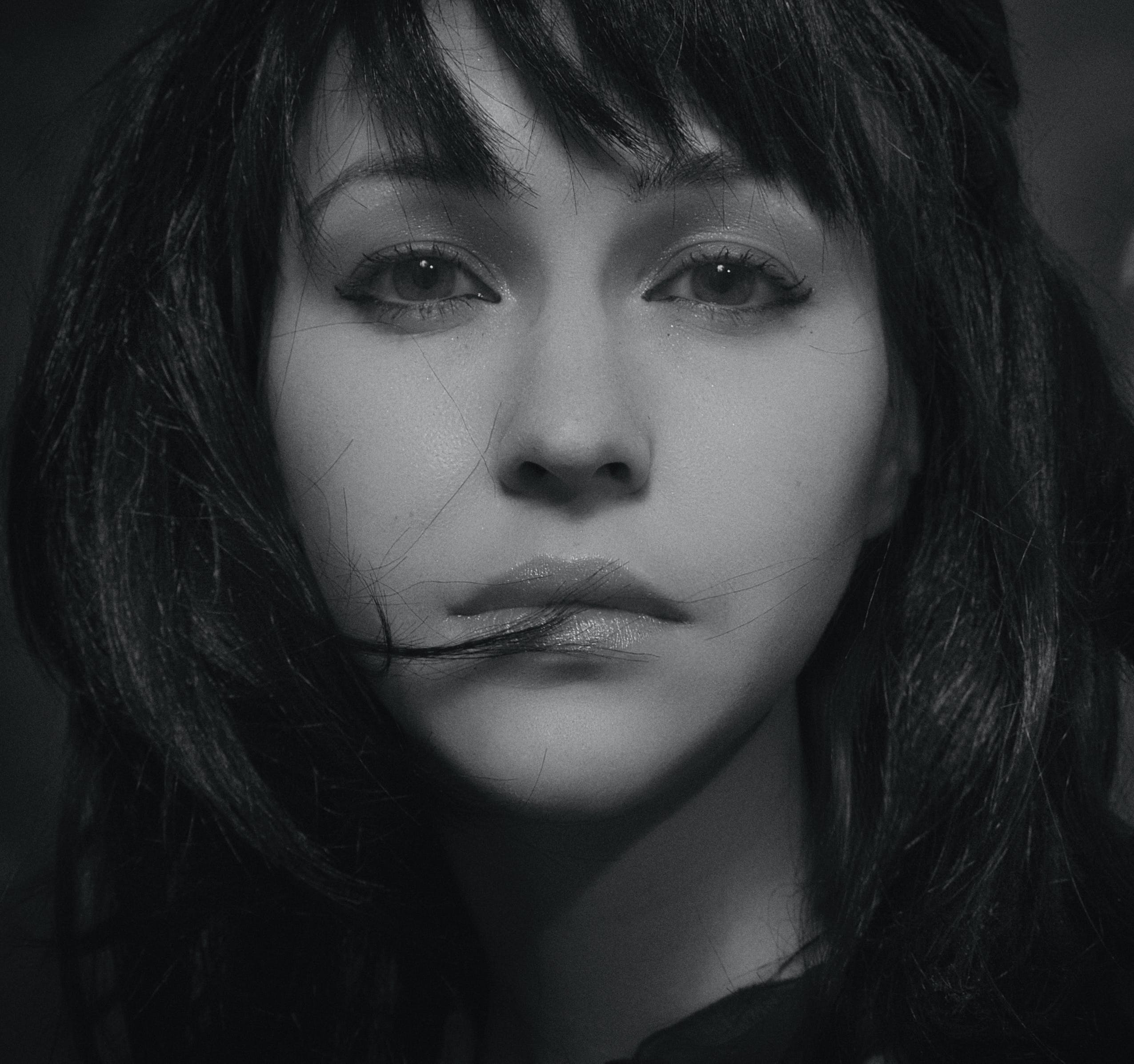 Woman With Bangs Portrait Photo