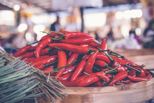 Gratis lagerfoto af baggrund, cayennepeber, chili, cuisine
