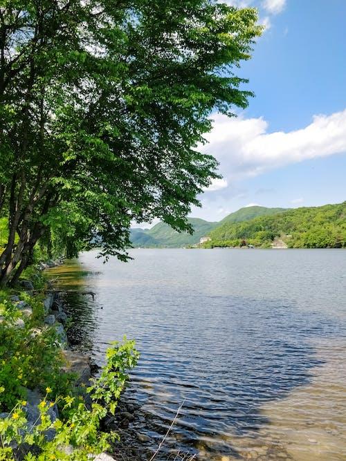 hdr, 山, 山湖, 影の無料の写真素材