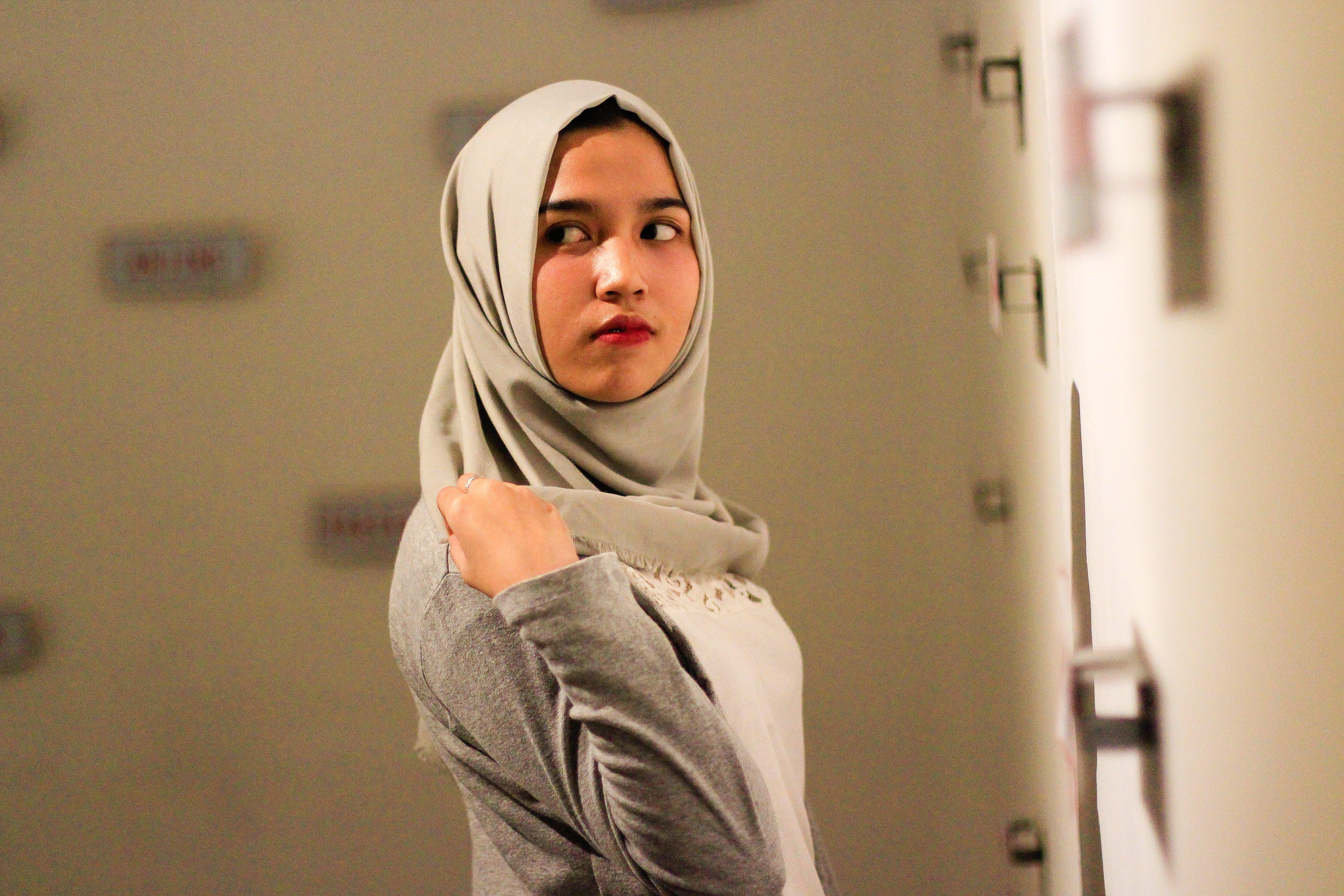 Foto d'estoc gratuïta de amor, bonic, bufó, hijab