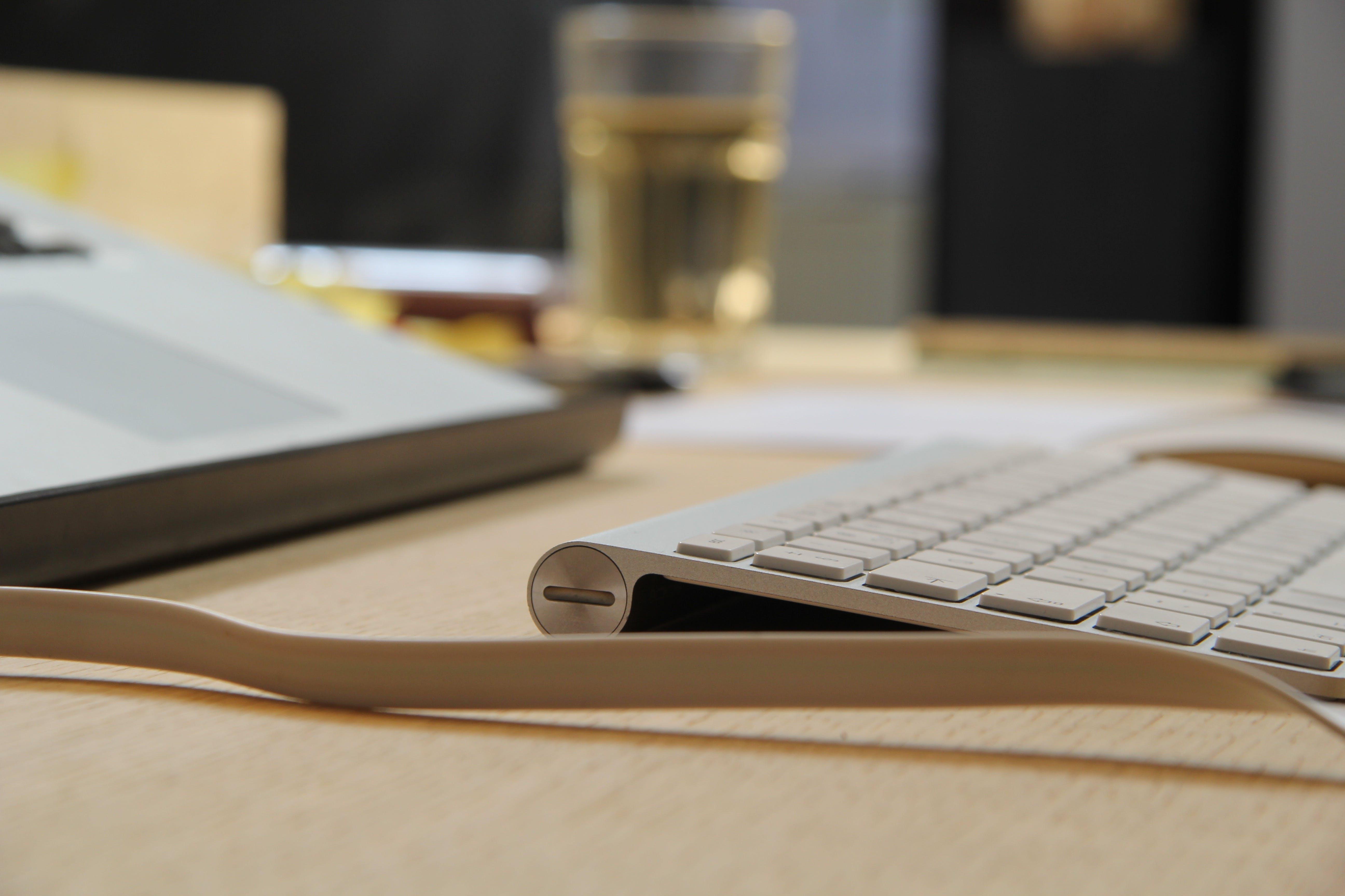 Free stock photo of keyboard, macbook, office