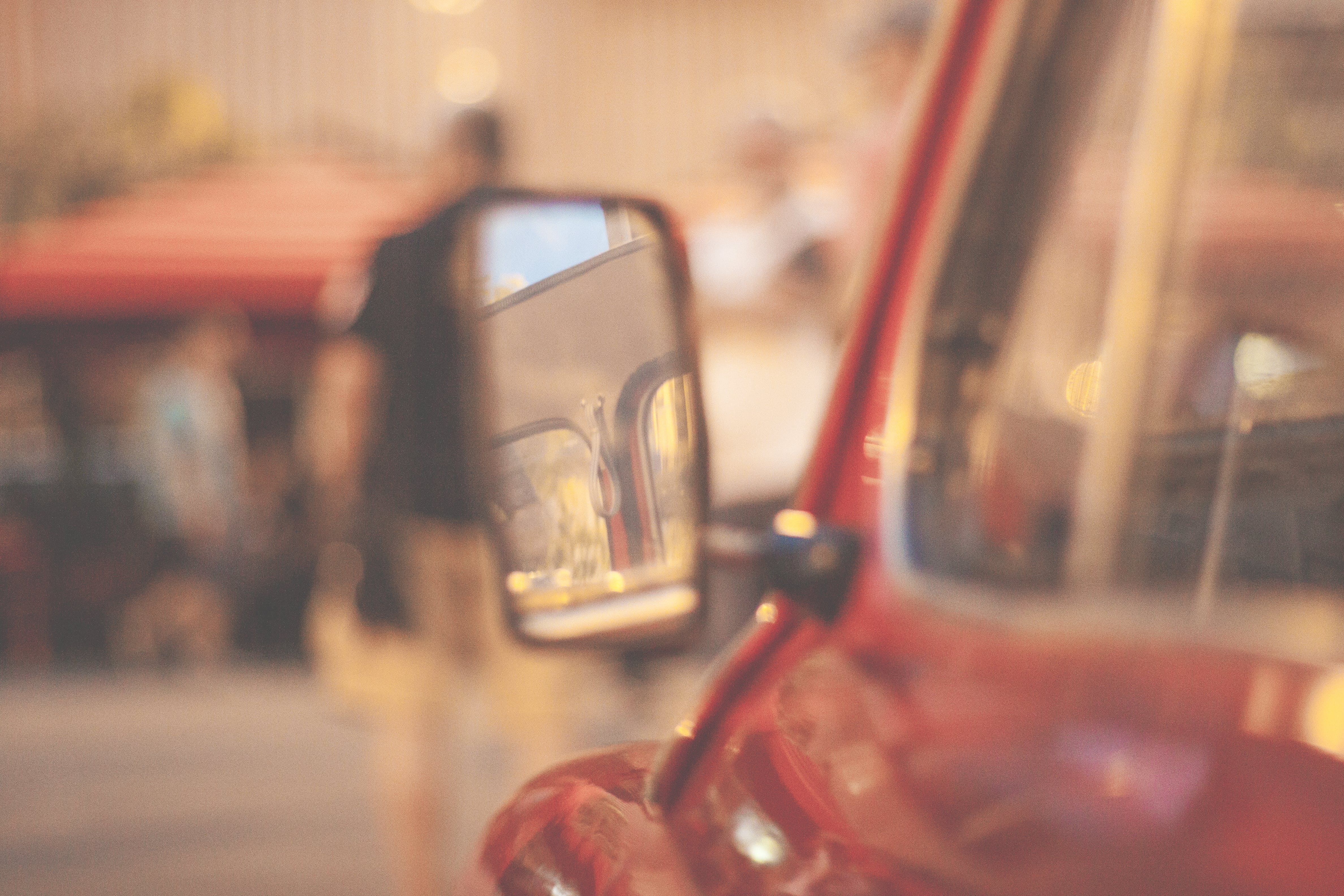 Free stock photo of car, Fiat, mirror, old car