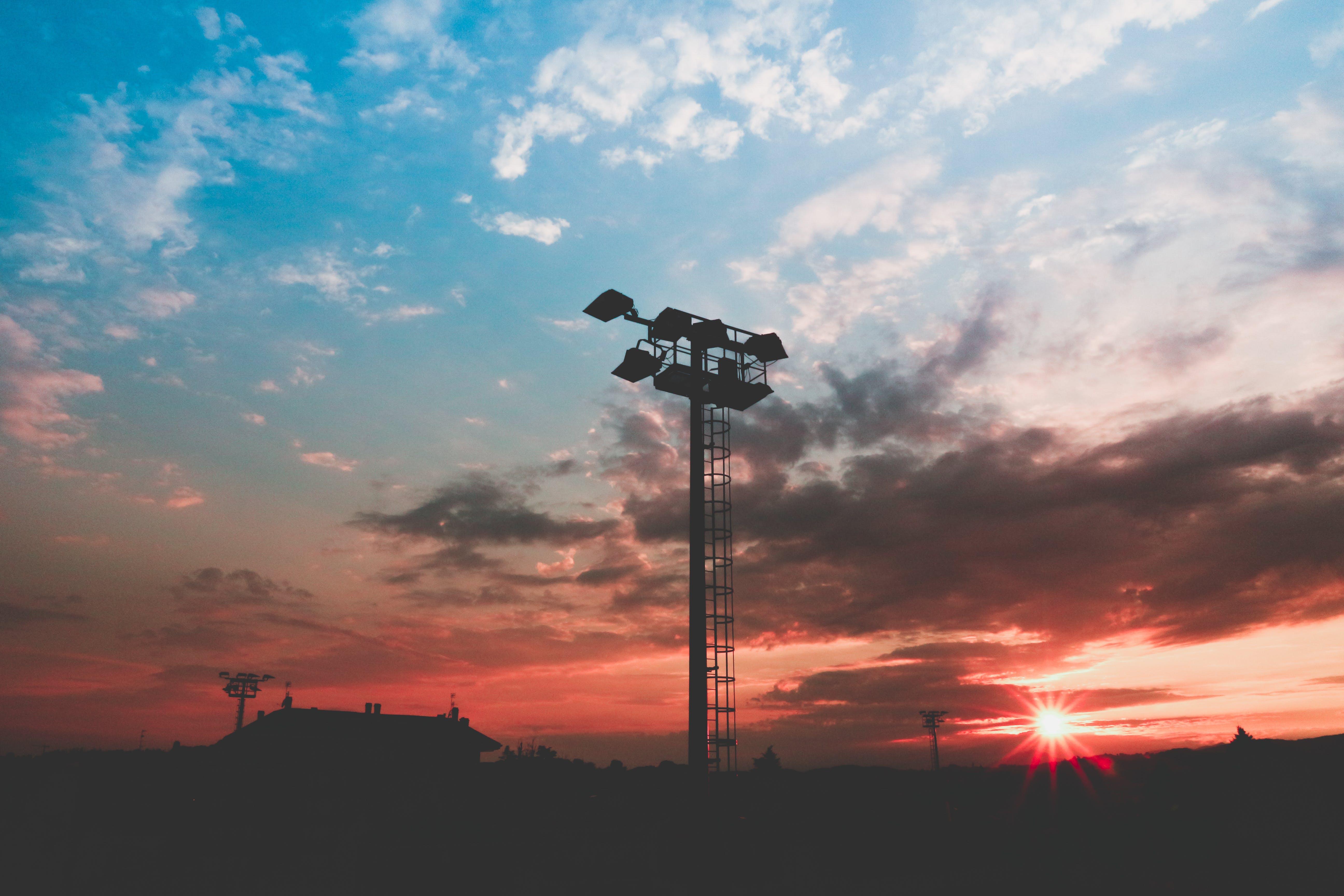 Black Light Tower during Sunset