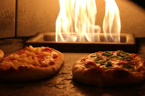 Two Pizza in Stove