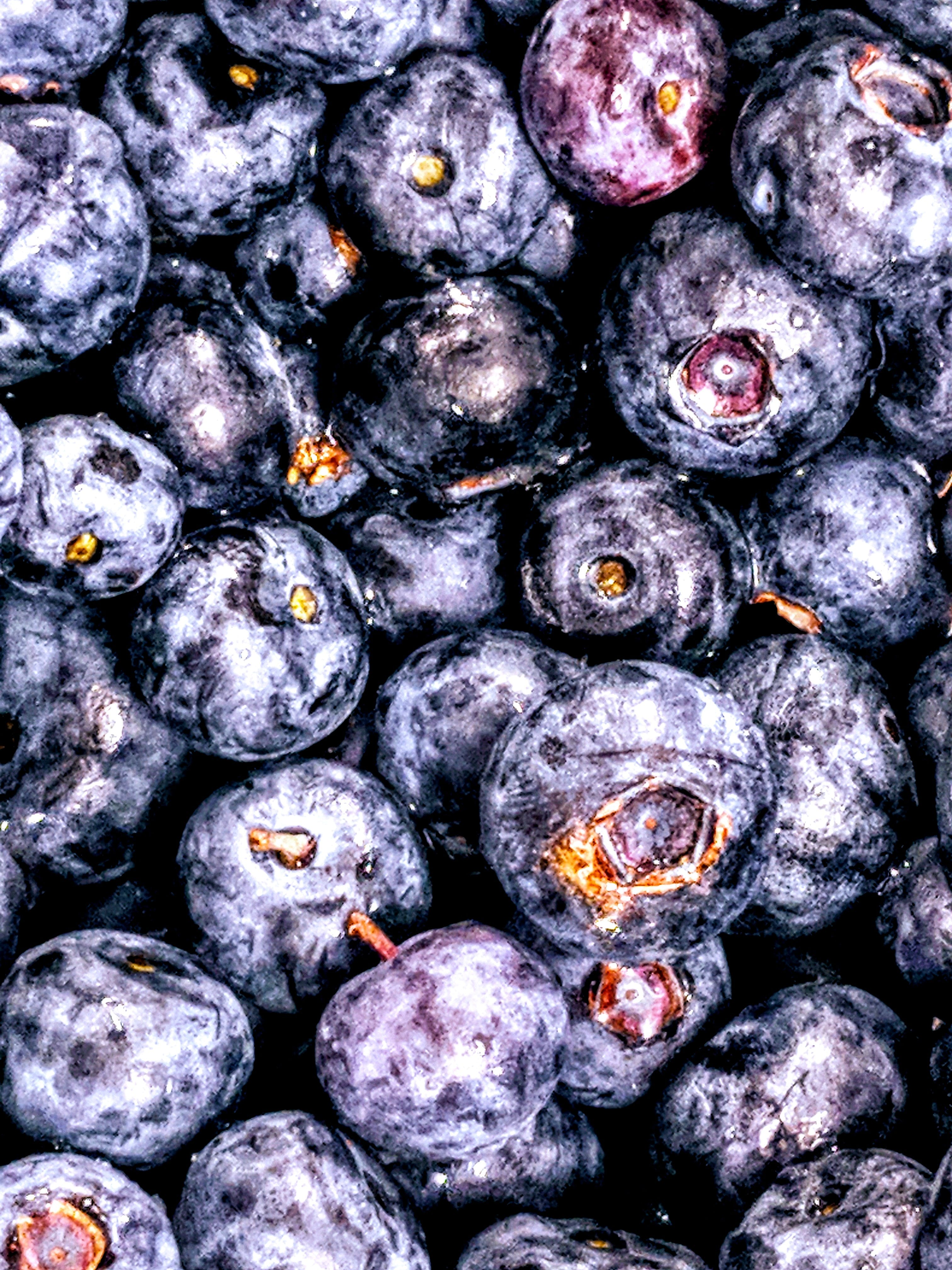 Flat Lay Photography of Bunch of Blueberries