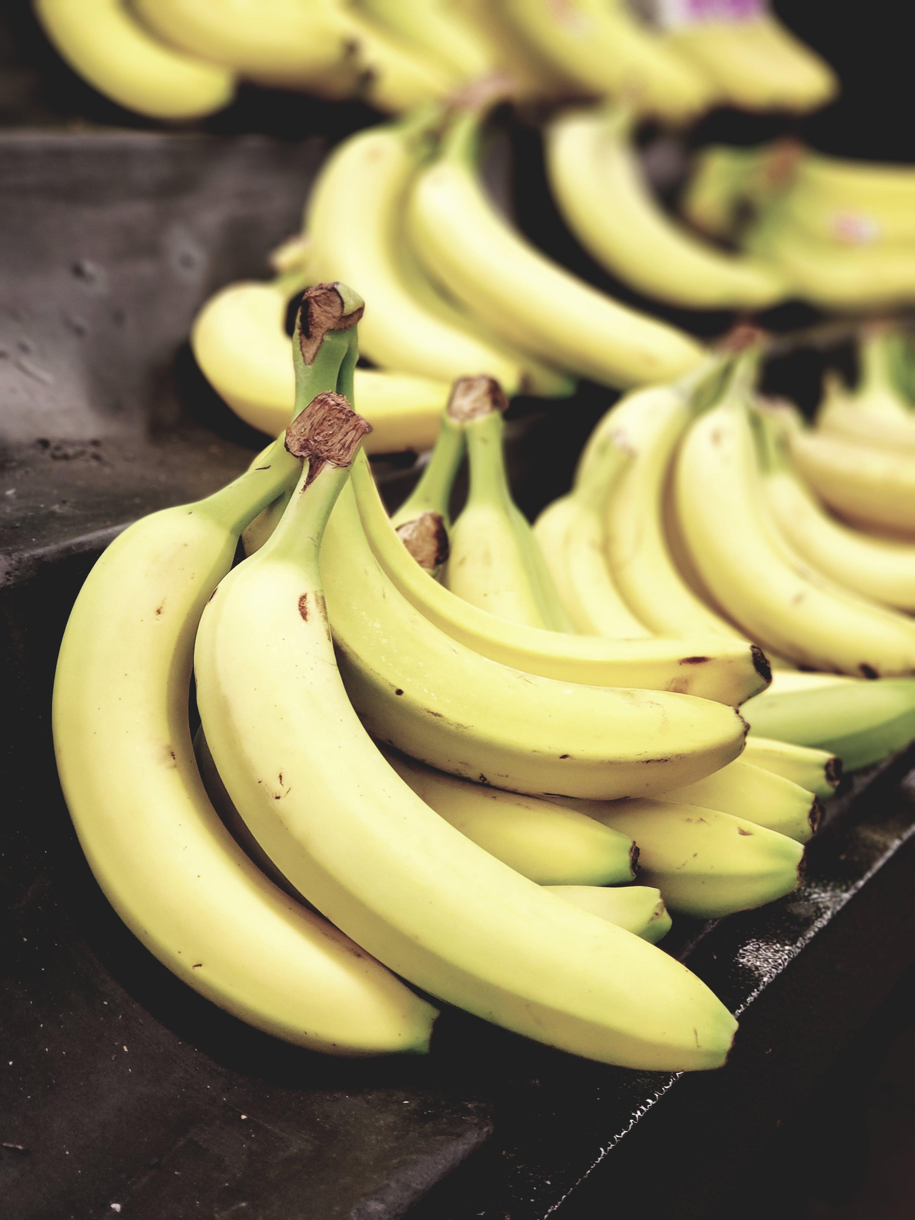 bananer, bundt, close-up