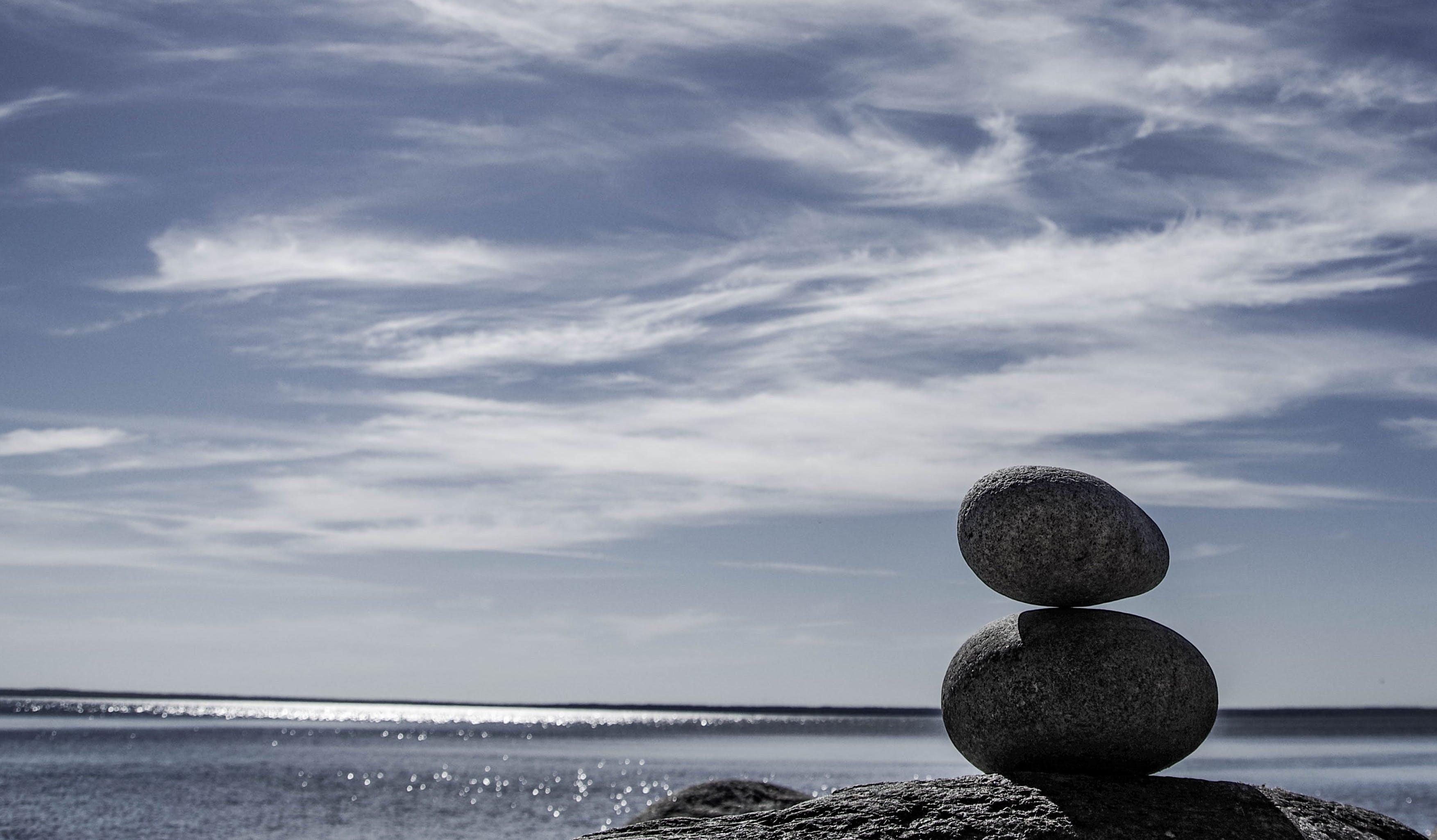 Základová fotografie zdarma na téma horizont, kameny, klidný, moře