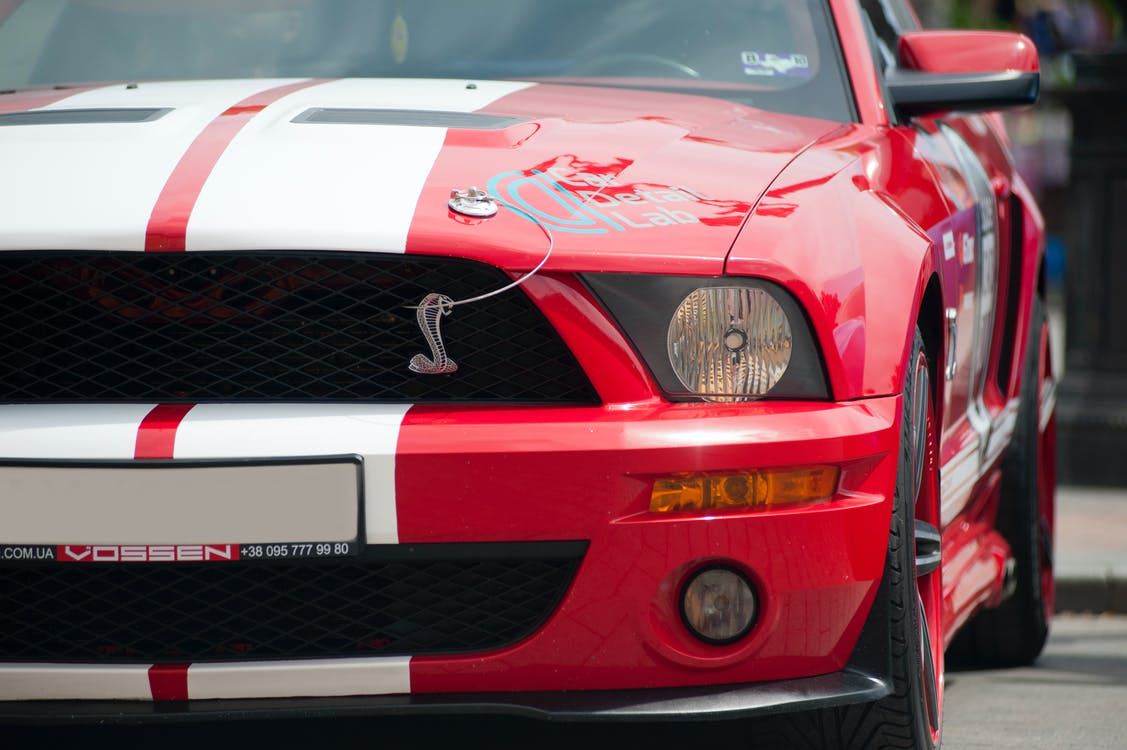 Photo Of Red And White Ford Shelby
