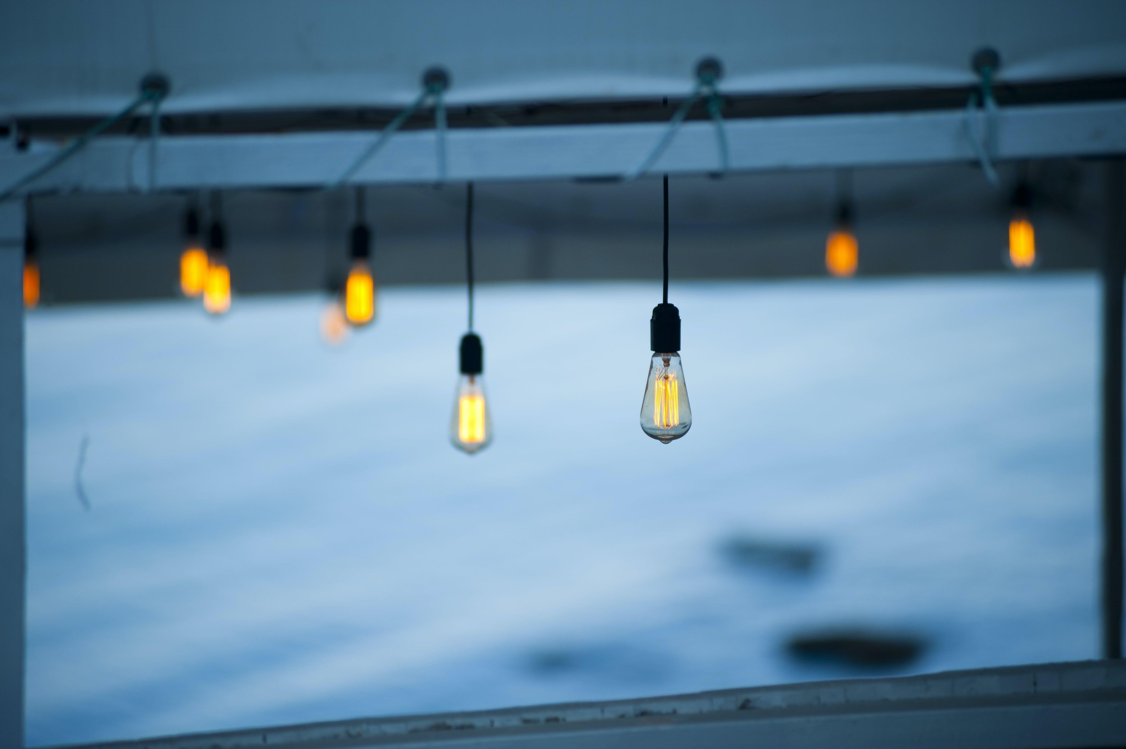 Free stock photo of background, light bulbs, bulbs, lightbulbs