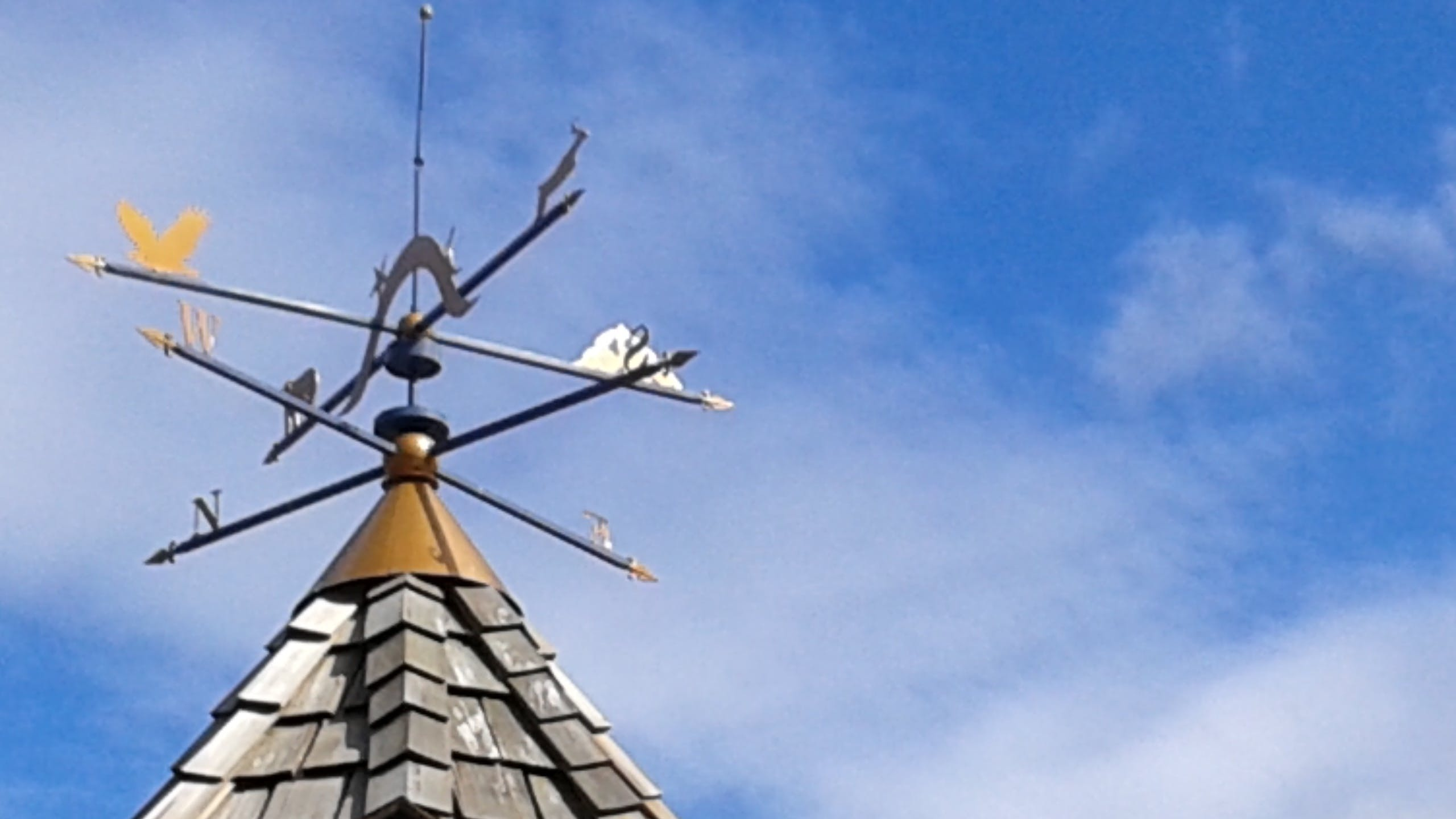 Free stock photo of blue sky, direction, weathervane