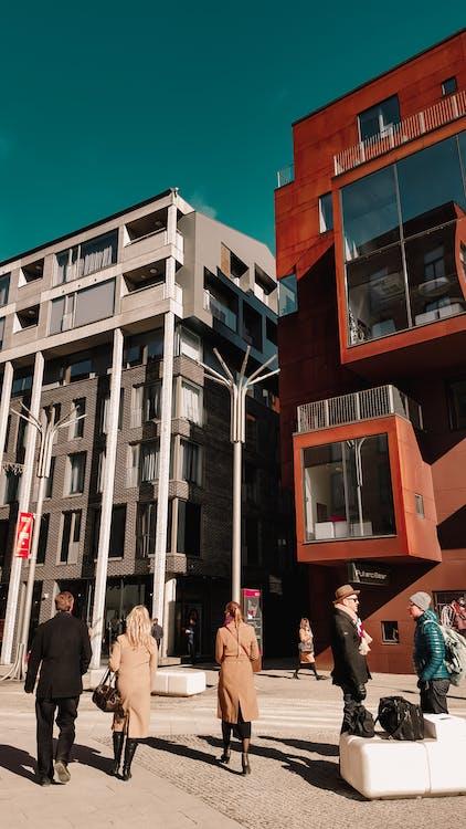 arkitektur. by, bygning, erhvervsfolk