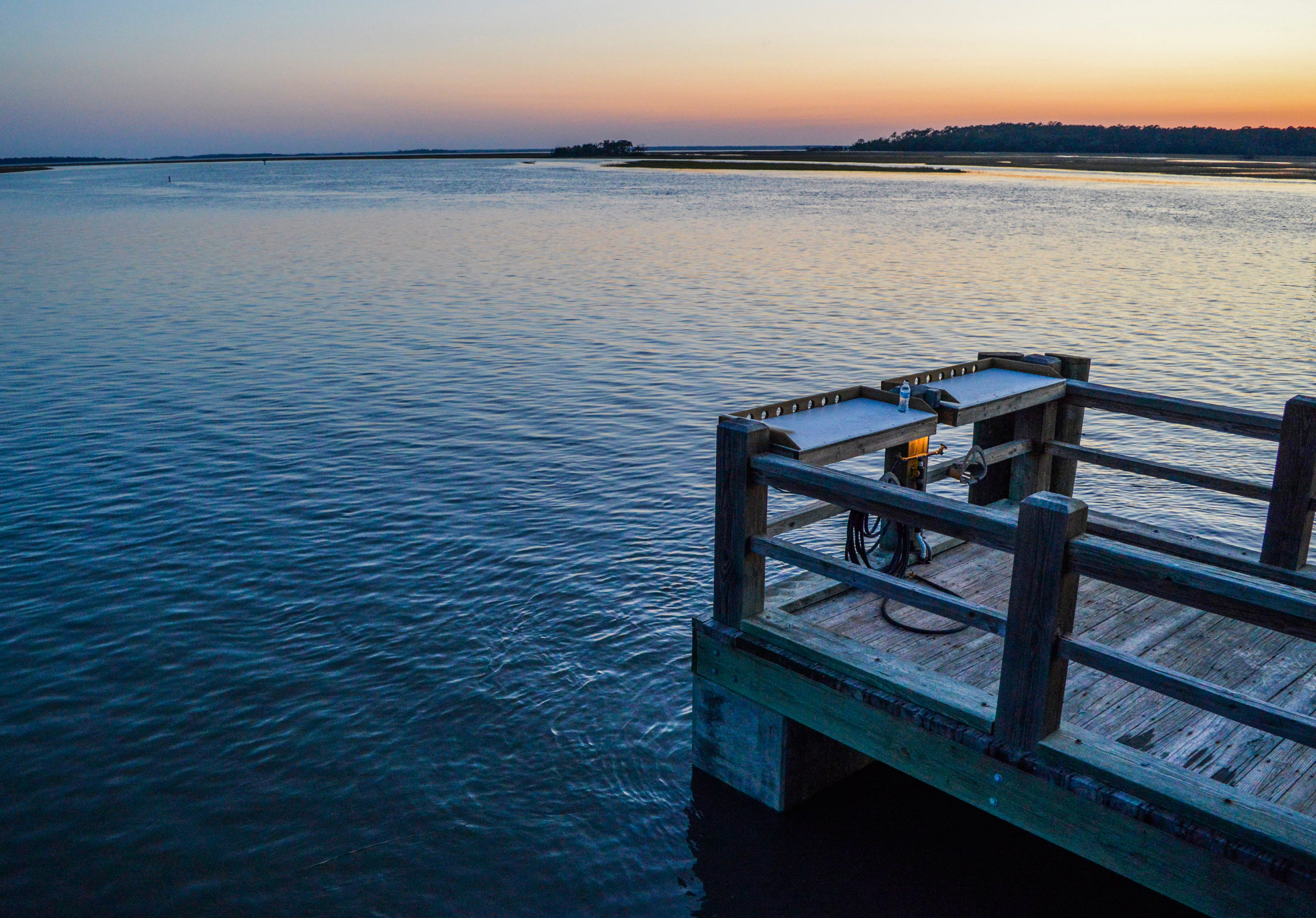 Photo of Wooden Dock during Dusk
