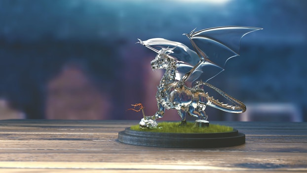 Free stock photo of glass, 3d, showing, dragon