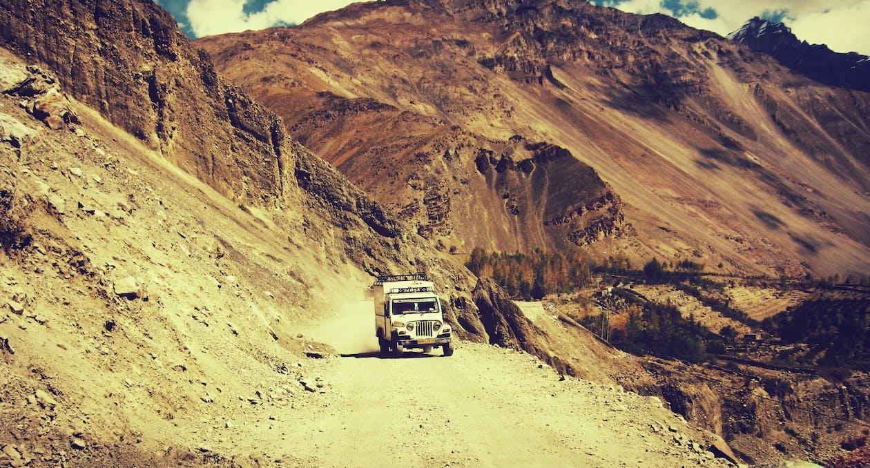 aventure, chemin de terre, expédition