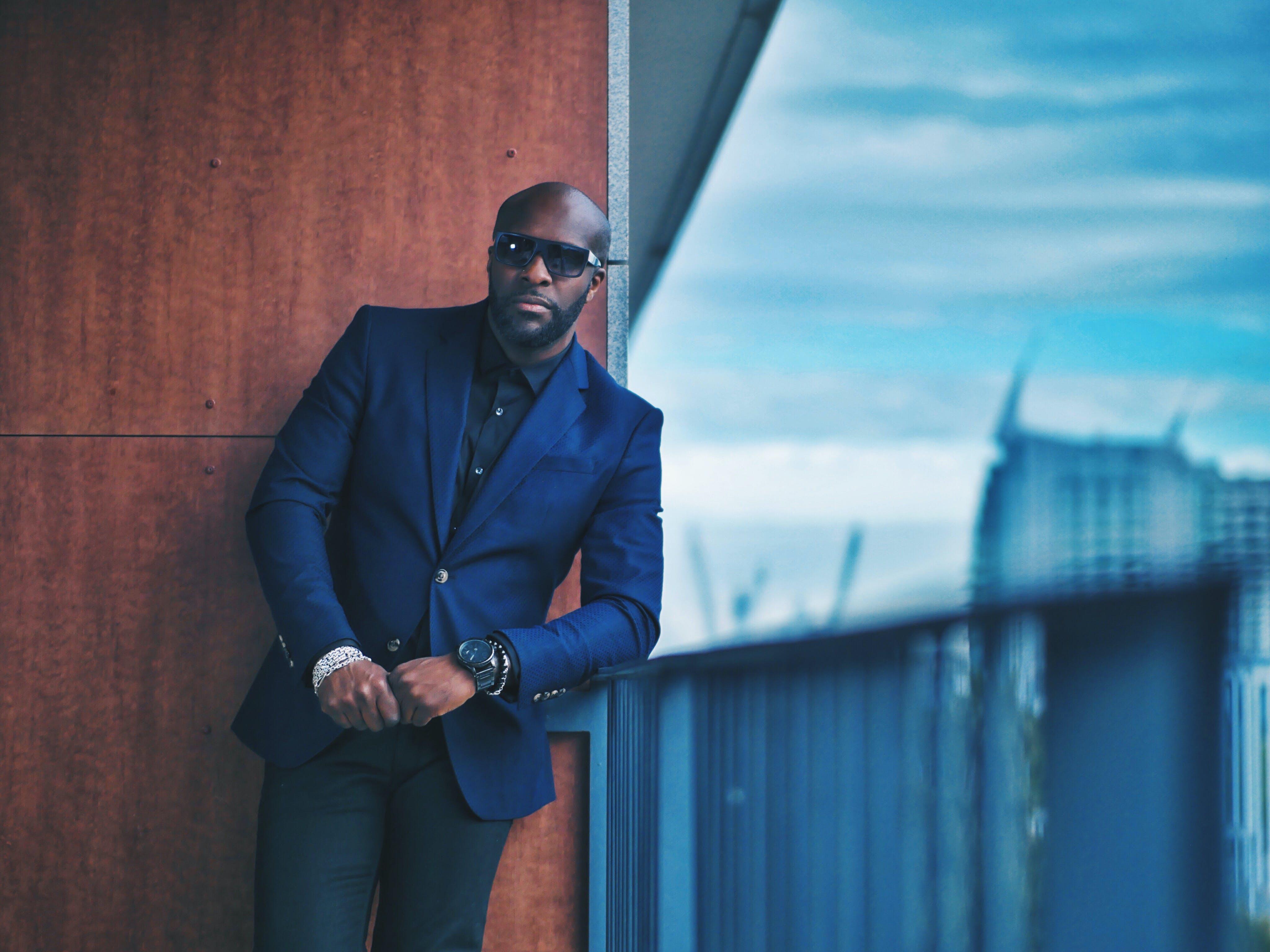 Men's Blue Formal Suit Jacket