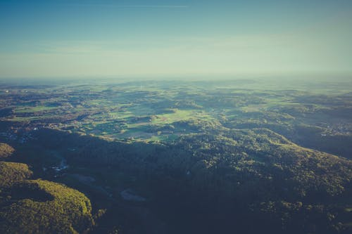 Free stock photo of aerial, bird's eye view, daylight, fog