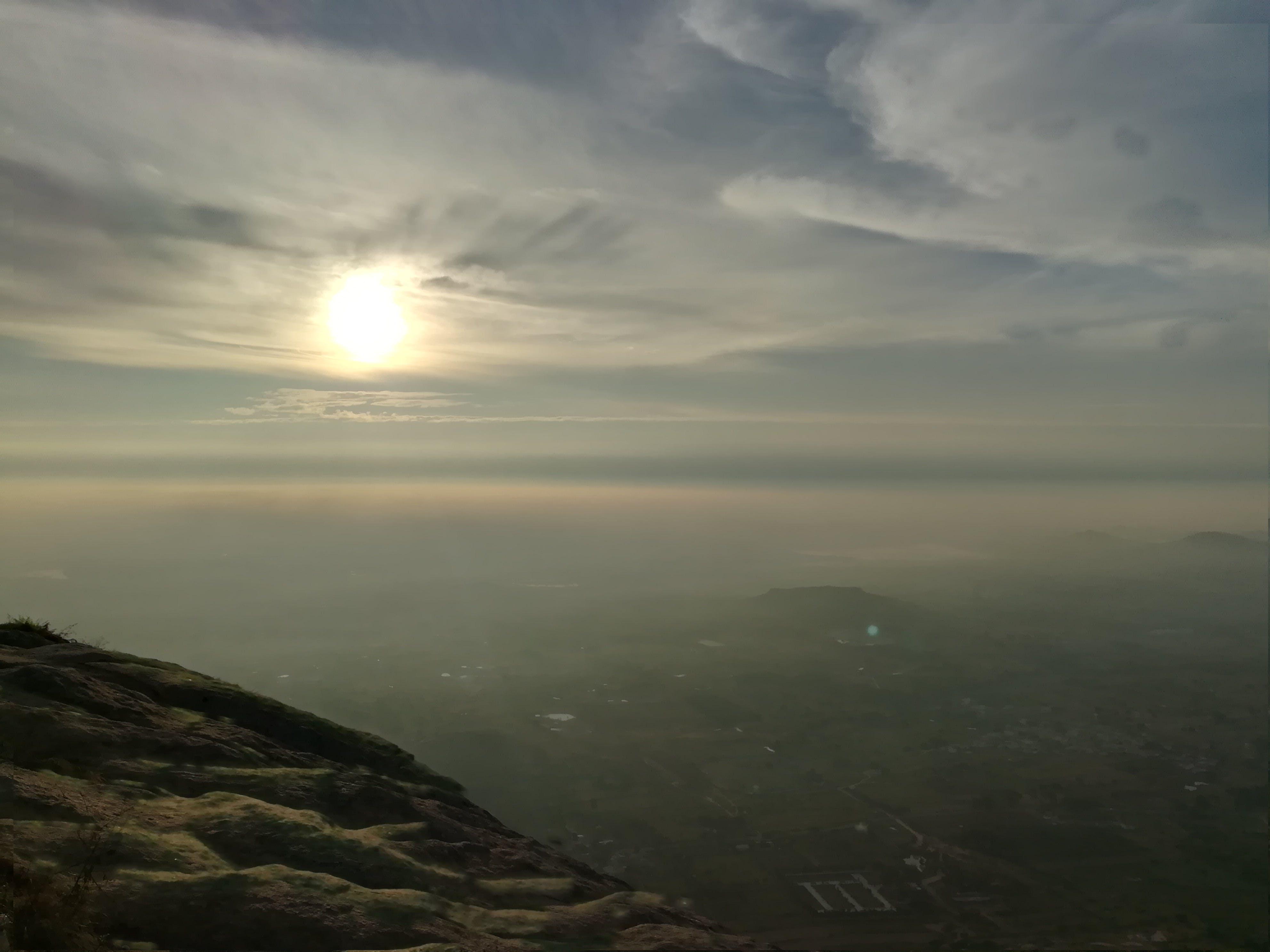 Free stock photo of early morning, hills, sun, sunrise
