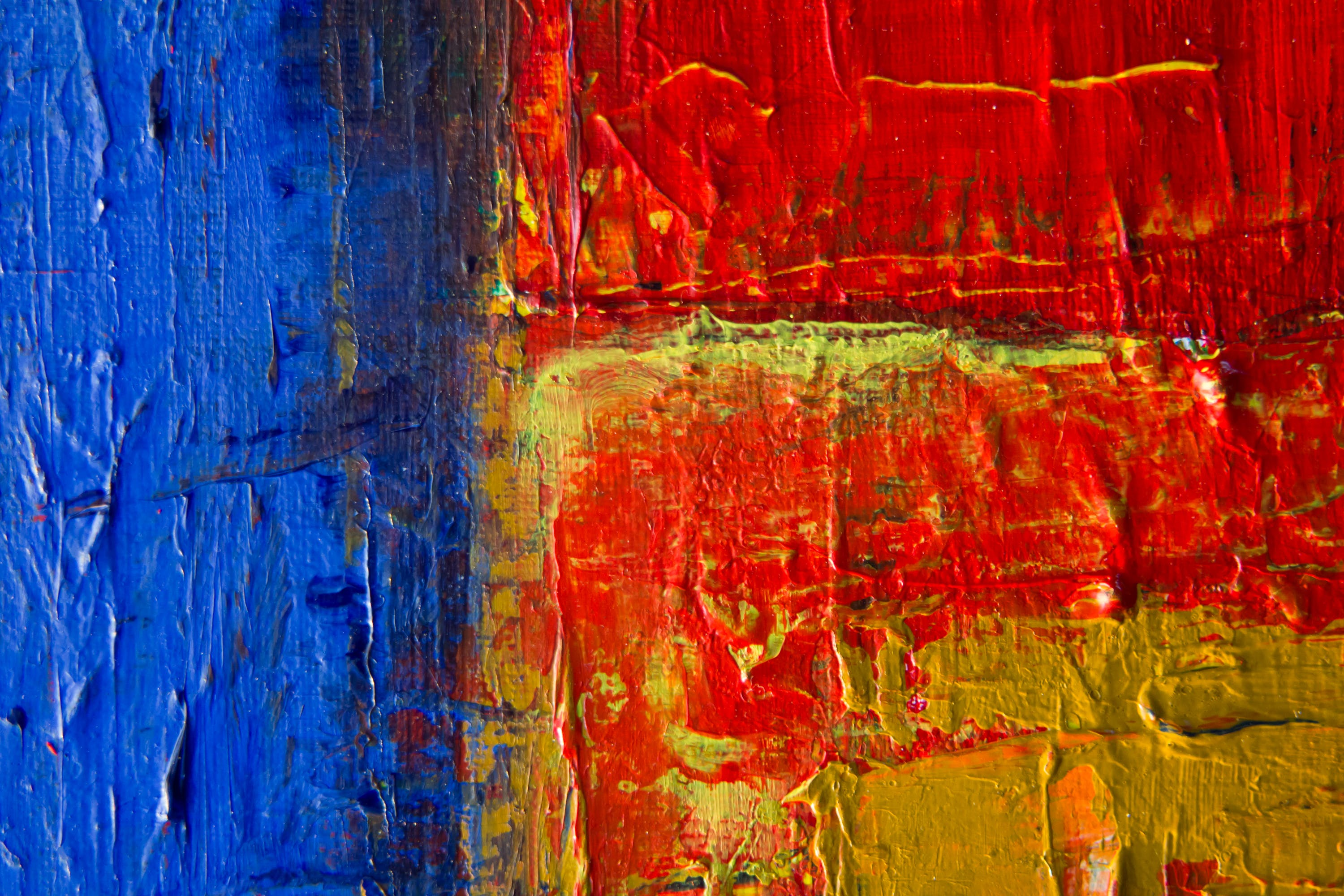 Red, Yellow, And Blue Painting