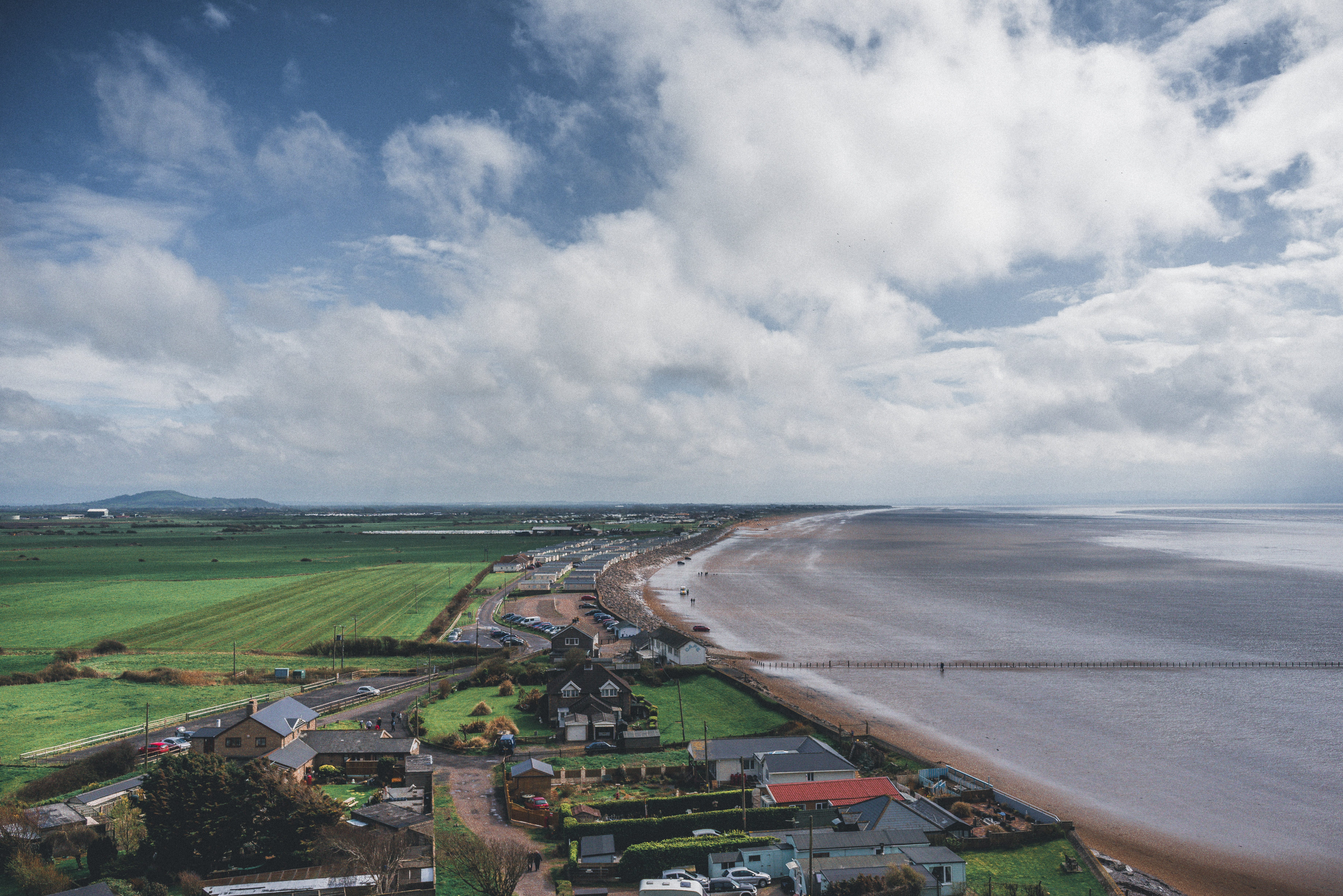 Aerial Photography of Seaside