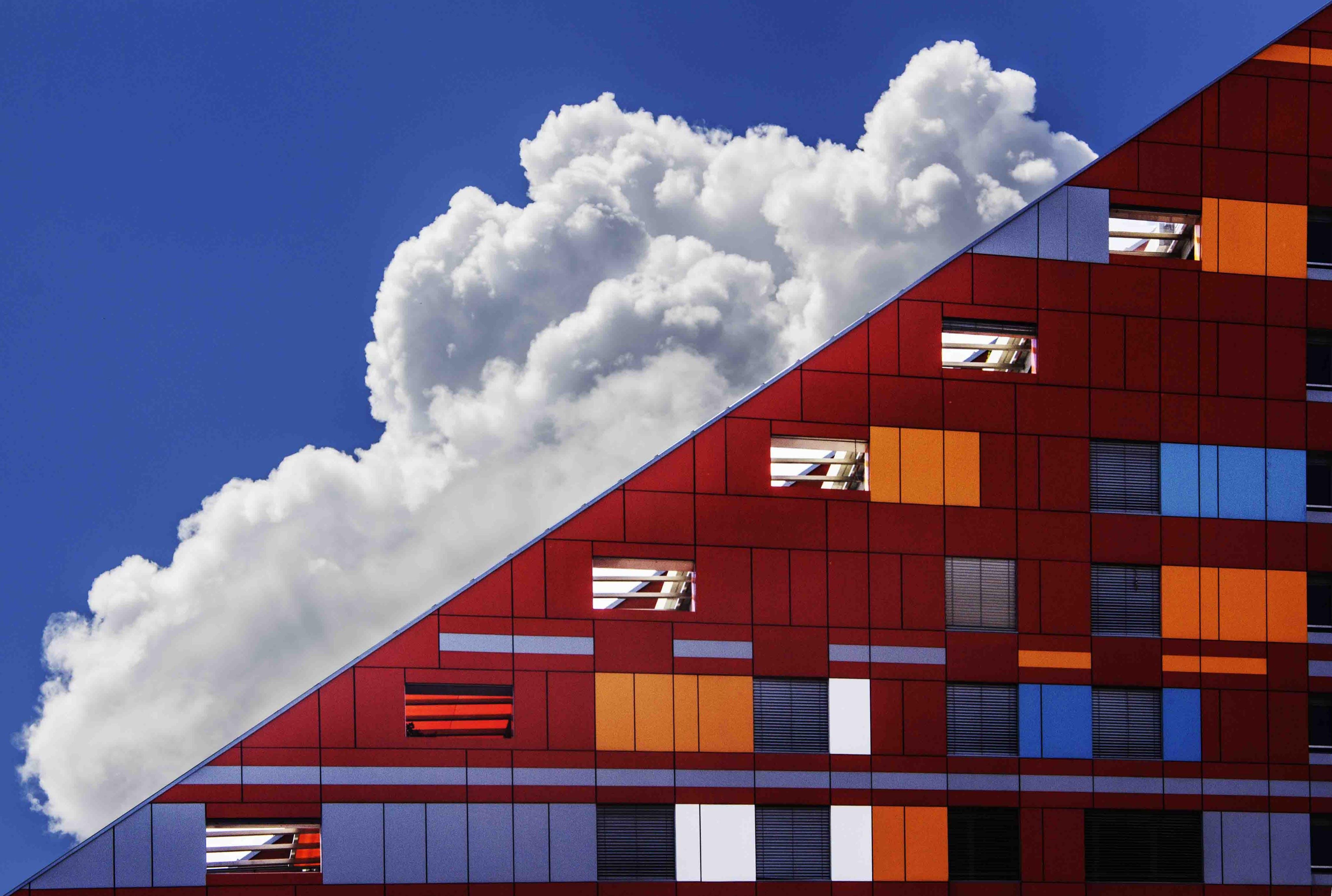 Foto stok gratis Arsitektur, awan, langit, masa kini