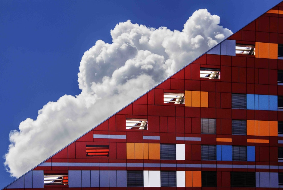 Cloud in Sky and Building