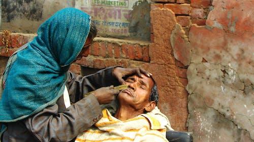 Photos gratuites de barbier, côté rue, inde