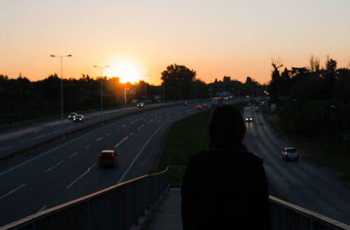 Free stock photo of freeway, roads, shadows, sunset