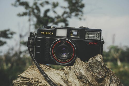 Black Yashica Film Camera