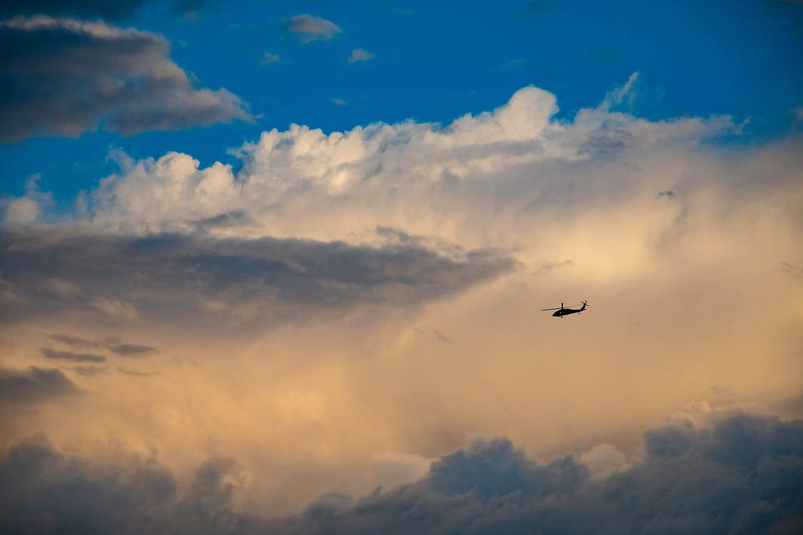 chmury, jasny, latanie