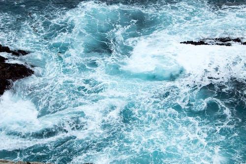 Gratis lagerfoto af bevægelse, bølgebryder, bølger, fugleperspektiv