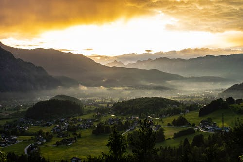 Photos gratuites de alpes, après la pluie, coucher de soleil, paysage