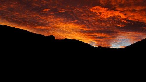 Photos gratuites de ciel orange, coucher de soleil, karoo, kleinkaroo