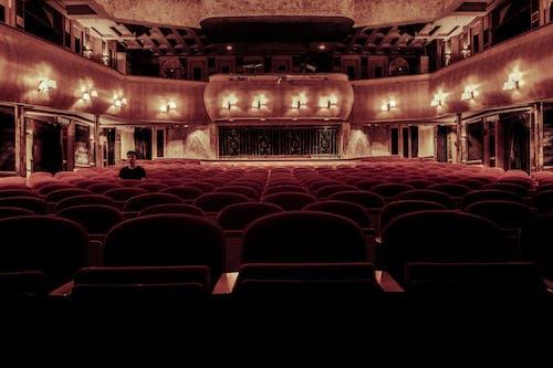 Gratis lagerfoto af arkitektur, auditorium, biograf, indendørs