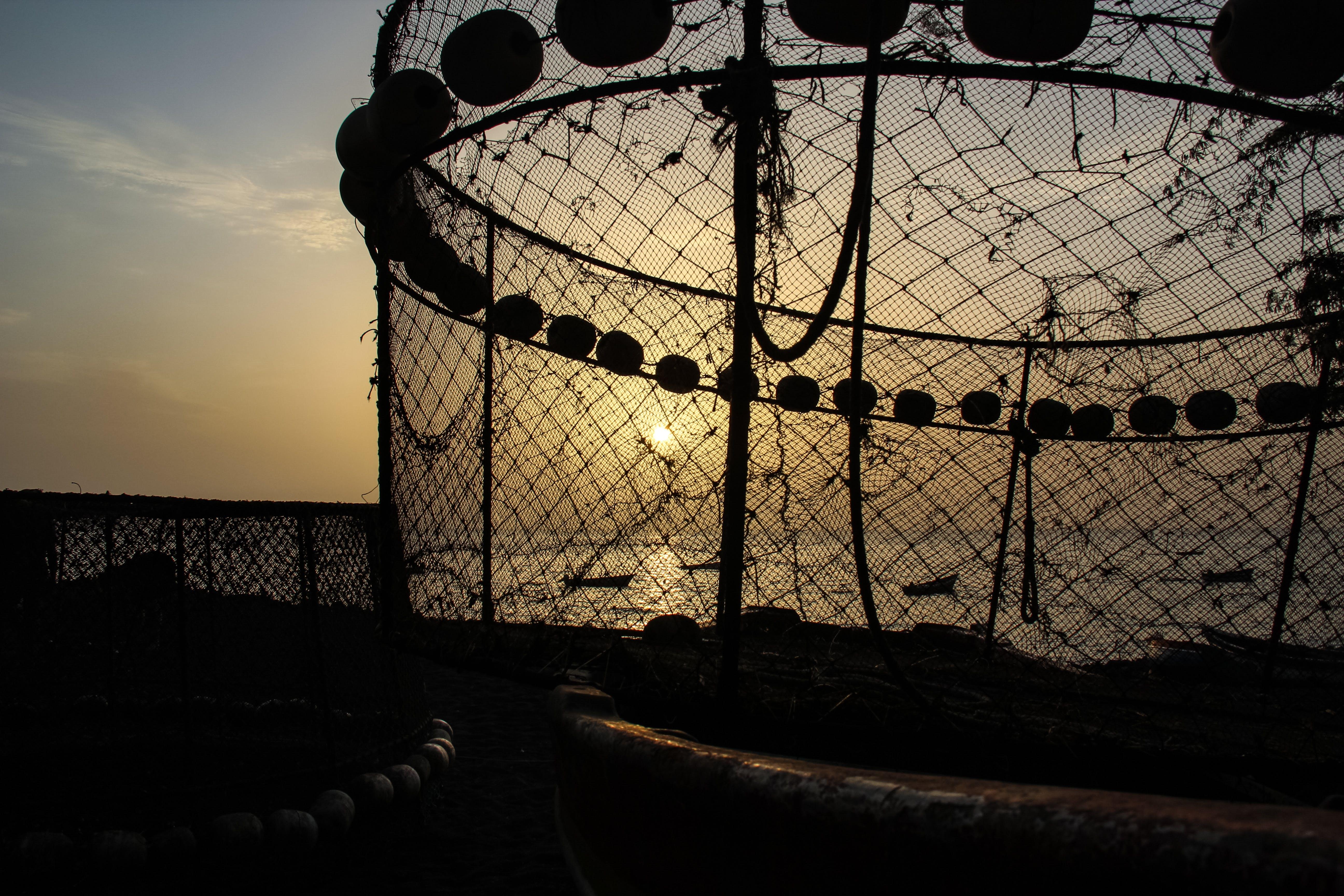 Free stock photo of fishing net