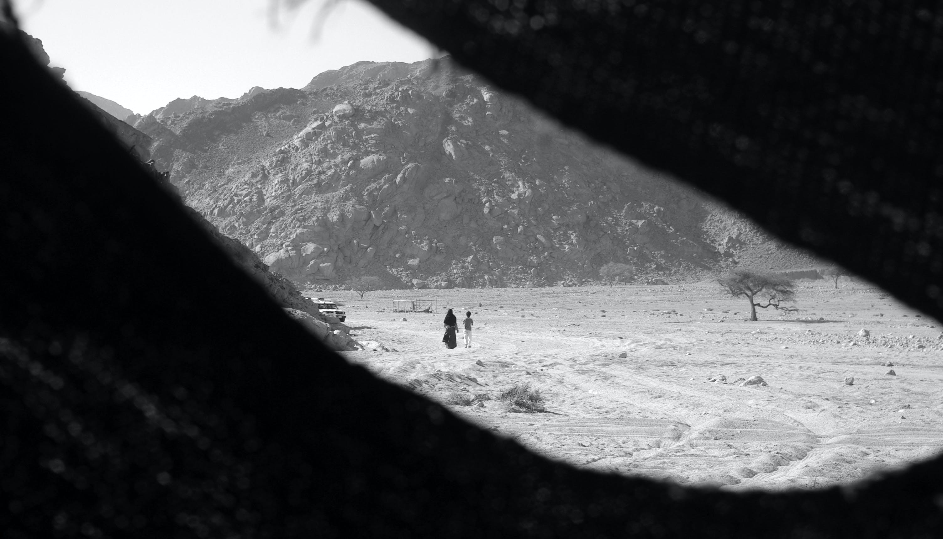 Free stock photo of alone, black and white, desert, in detention