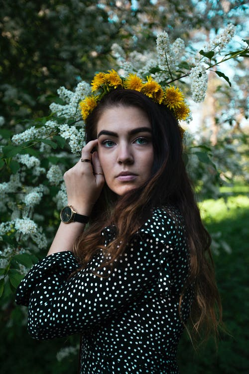 Photography of Wearing Flower Crown