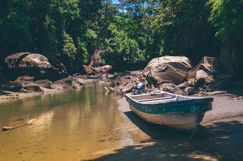 ボート, モーターボート, 岩, 巨石の無料の写真素材