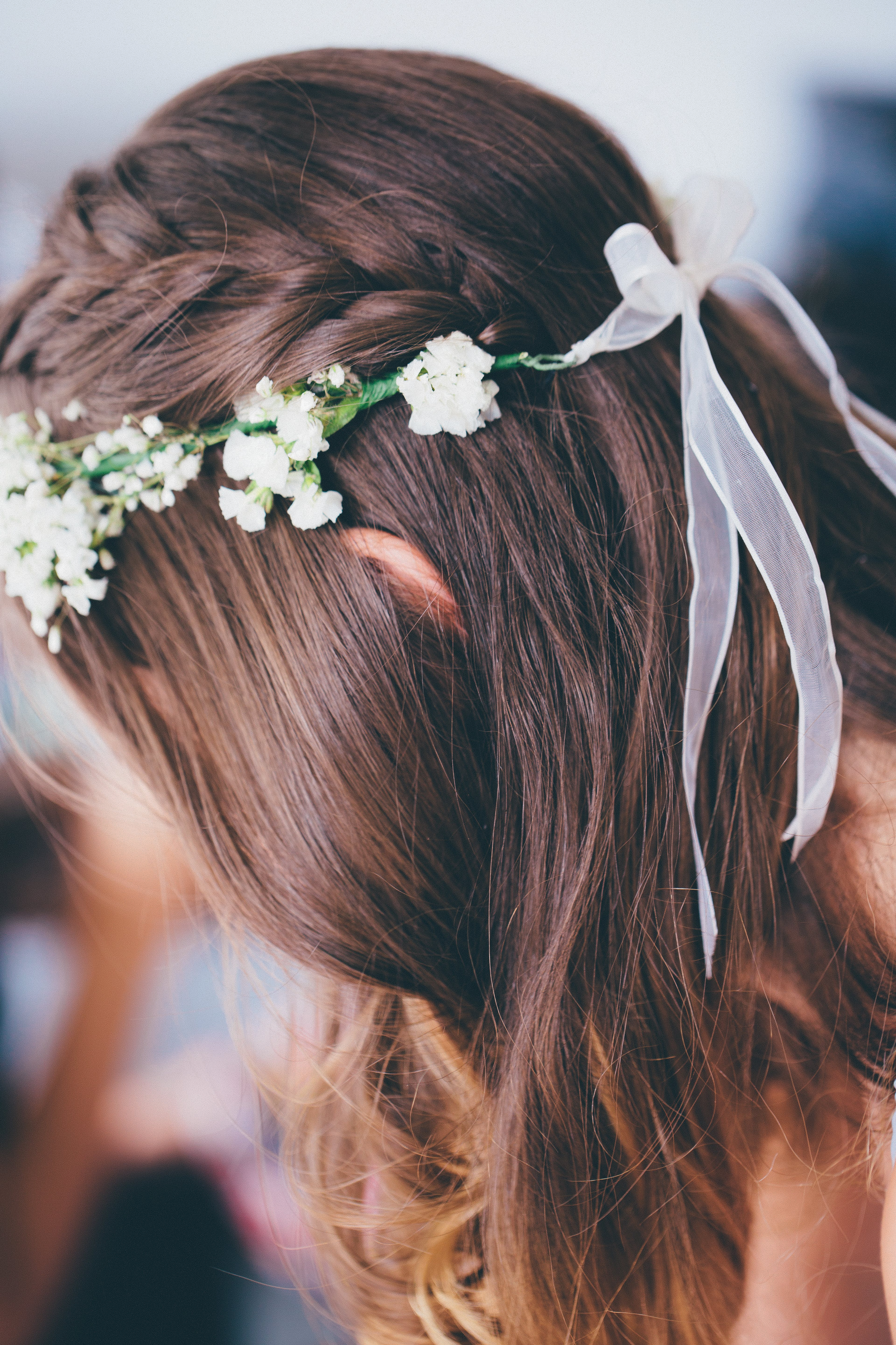 Selective Focus Photo of Woman Wearing Floral Headdress