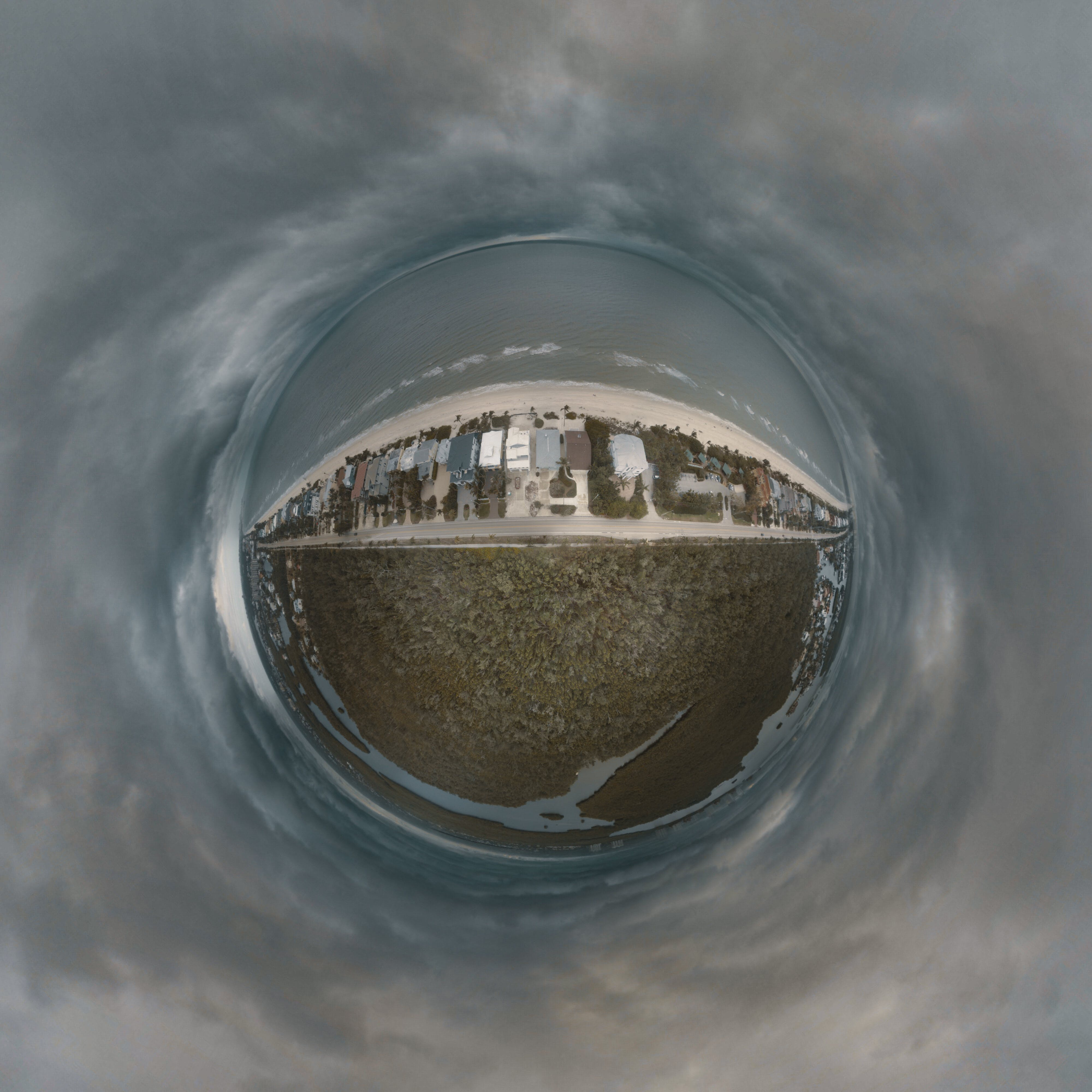 Fish Eye Lens of Body of Water