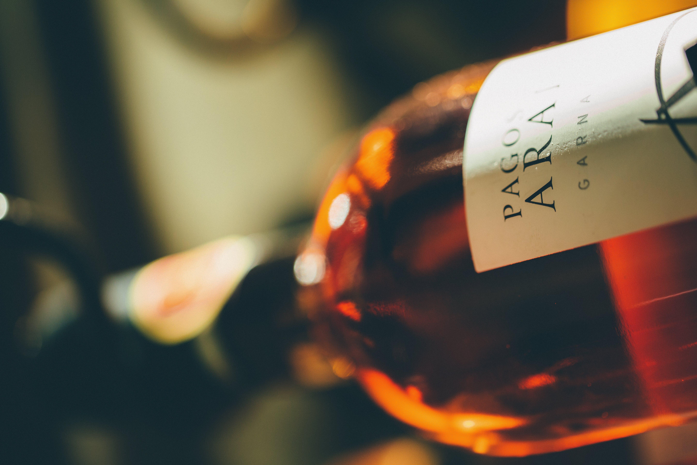 alkohol, close-up, flaske