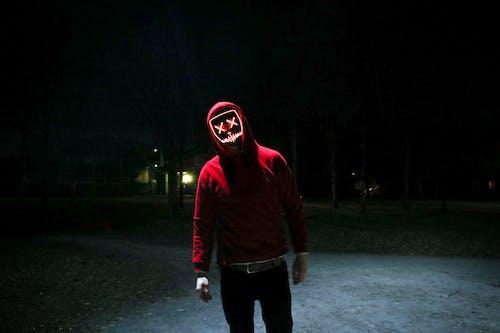 Immagine gratuita di felpa con cappuccio, halloween, maschera, maschera a led