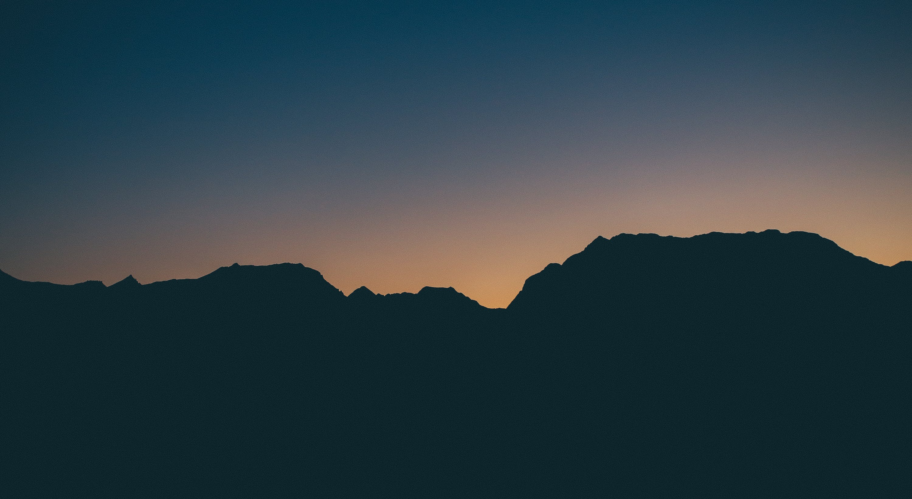 Photo of Mountain Silhouette