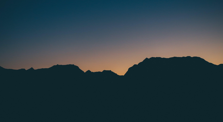 Photo of Mountain Silhouette