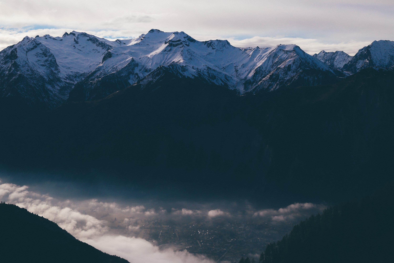 mlha, rýma, sníh