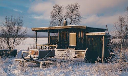 Foto stok gratis awan, dingin, embun beku, kabin