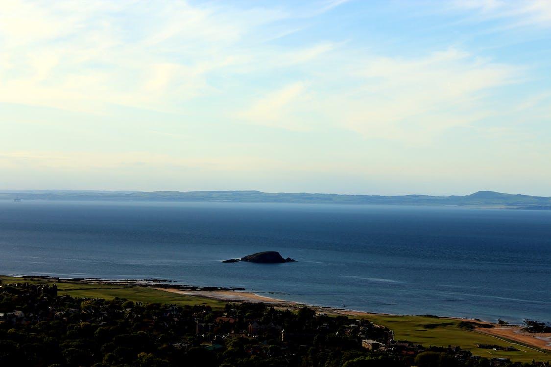 blau, cel, Escòcia